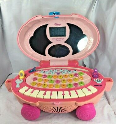 VTech Disney Princess, Cinderella Carriage, Magical Mirror Laptop Computer GUC