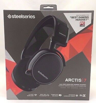 SteelSeries Arctis 7 Wireless Gaming Headset for PC/PS4/Xbox One/Mac - Black