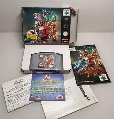 DUAL HEROES OVP Boxed console Nintendo 64 n64 en boîte COMPLETE RARE GIG PAL
