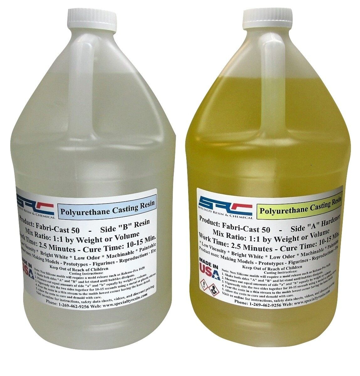 Fabri-Cast 50 Ultra-Low Viscosity Urethane Casting Resin 2 Gallons