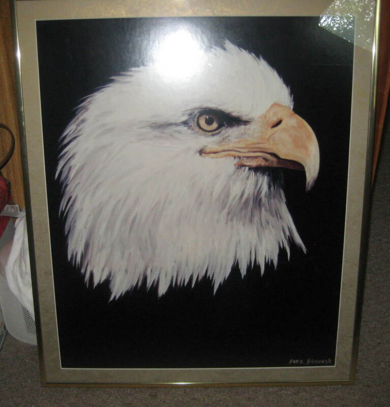 NESA Eagle Print, framed,     bk