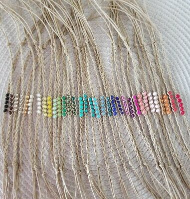 BEAUTIFUL BEADED WISH HEMP CORD BRACELET, CHOOSE THE ONE YOU LOVE! NEW HANDMADE!