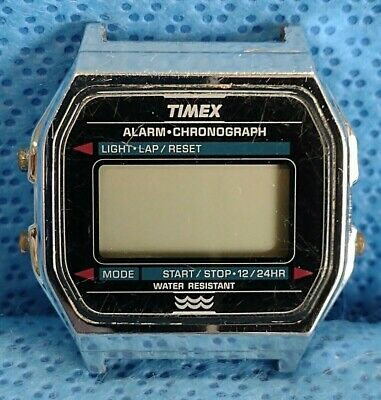 Vintage Timex Alarm Chronograph Watch Digital 1970s 1980s