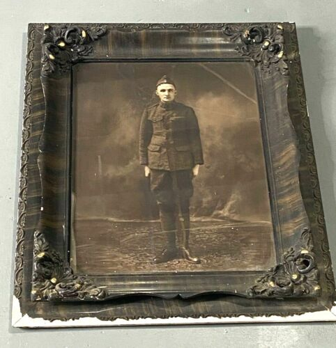WWII US Army Soldier Large Framed Portrait