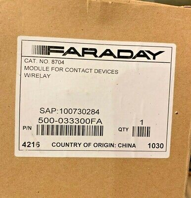 Niob Siemensfaraday 8704 Addr. Monitor Module With Relay Fire Alarm