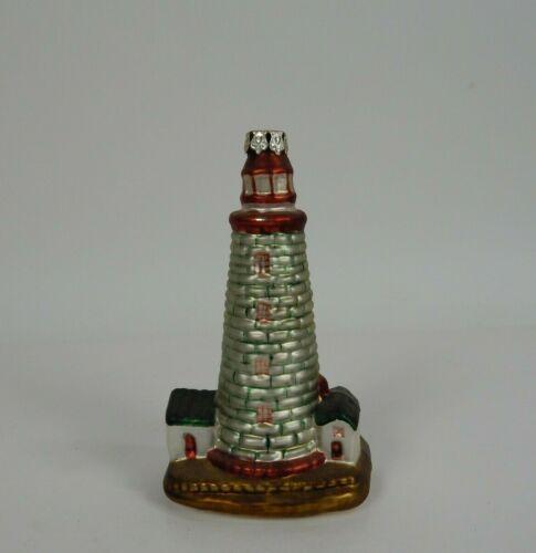 "Vintage Glass Light House Christmas Tree Ornament 6"""