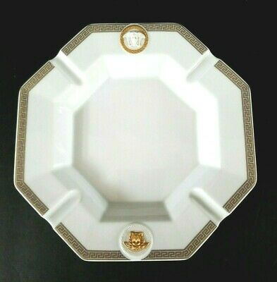 "Versace Gorgona Porcelain Medusa Cigar Ashtray by Rosenthal 9"" Discontinued"