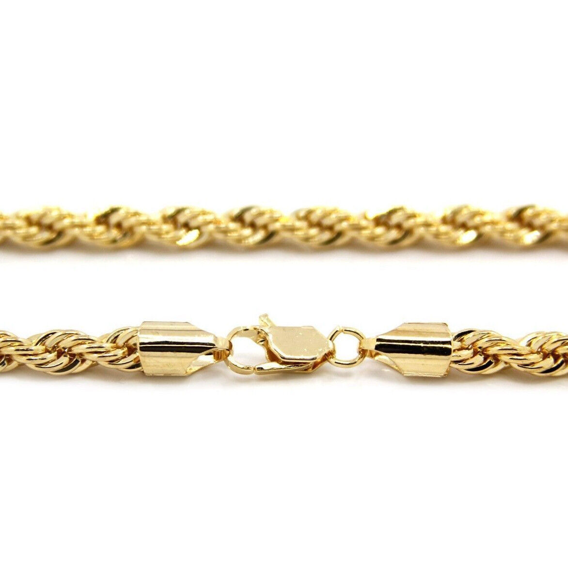 14k Gold plated rope chain men's women's 24″ inches necklace free shipping new Fine Jewelry