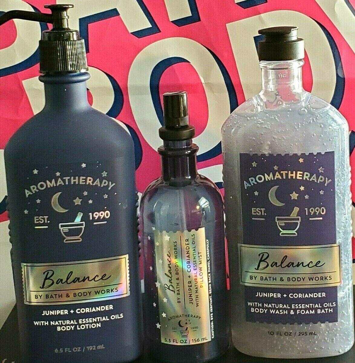 new bath and body works aromatherapy balance