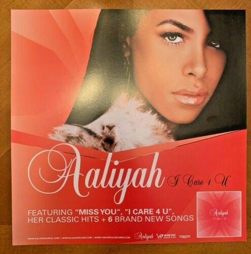 Aaliyah 2002 Rare Promotional Poster 12x12 I Care 4 U