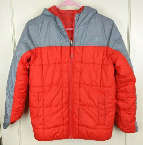 The North Face Perrito Red/Gray Insulated Winter Jacket Coat Reversible Boy