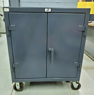 Strong Hold 2 Door 1 Shelf Heavy Duty Counter Height Mobile Cart Cabinet