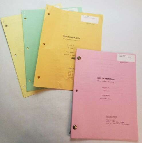 """BUFFY THE VAMPIRE SLAYER / 1997 TV Script, body parts """"Some Assembly Required"""""""