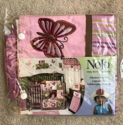 "NoJo  ""Emily""  Window Valance- Pink/Brown- Fits Window 36""x48""  NEW"
