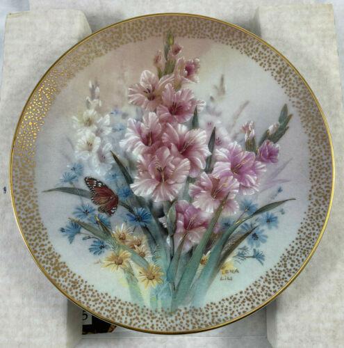 1992 Gladiolus Romance Lena Liu Symphony of Shimmering Beauty Plate 6036A w/COA