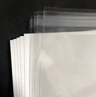 5 pack of Chirashi Flyer Poster Plastic Sleeves & Cardboard Backing Protectors