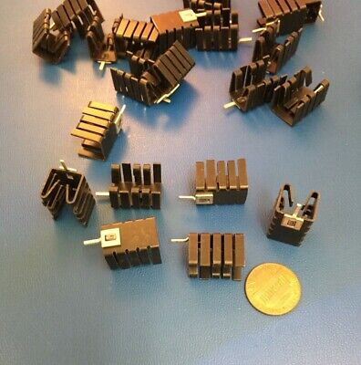 David 576802b04000g Heat Sink To-220 To-262 Aluminum Black Anodize 25 Pc Lot