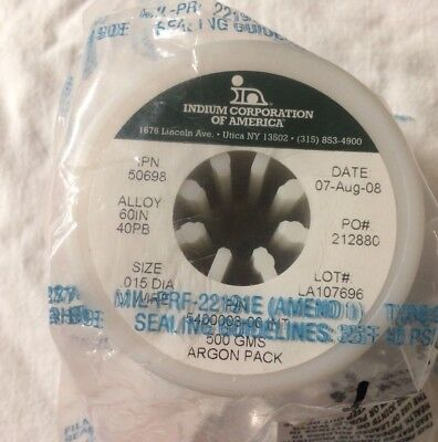 Indium Corp Solder Wire 60in40pb 0.015 Ind 205 Ipn 50698 0.5kgs 1700ft