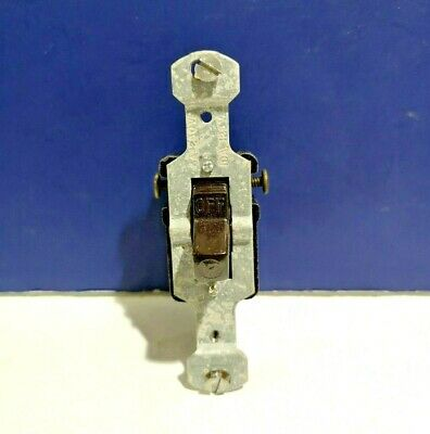 10-pk Brown 1-gang Single Pole Flush T Rated Toggle Switch 2036 Circle F New