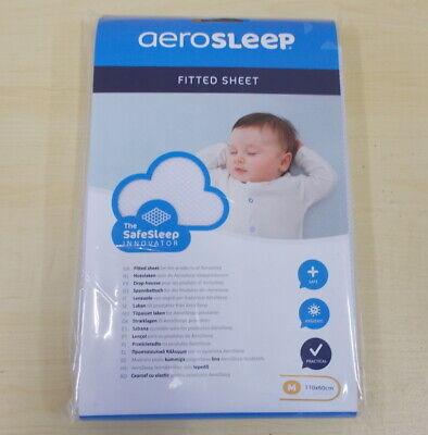 aerosleep AC-110-060-W Spannbettuch weiß 110 x 60cm Spannbettlaken Kinderbett