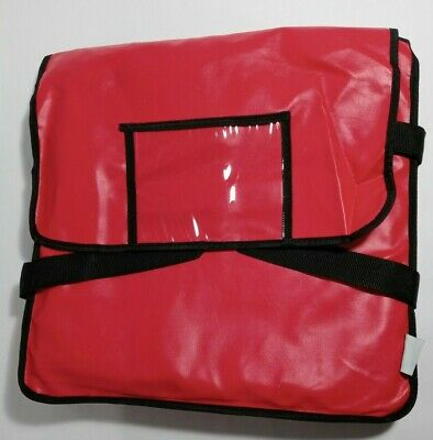 17 X 17 X 5 Choice Red Heavy-duty End Load Vinyl Insulated Pizza Delivery Bag