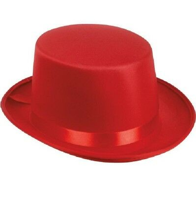 Red Tuxedo Silk Satin Top Hat Roaring 20s Adult Child Formal Costume Magician