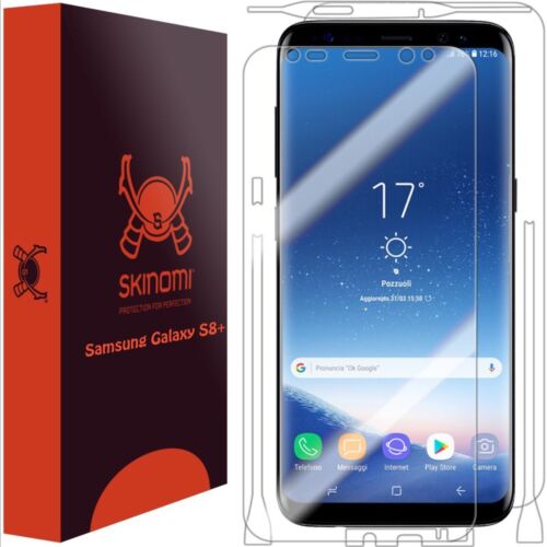 Skinomi FULL BODY Clear Skin+Screen Protector For Samsung Galaxy S8+ Plus