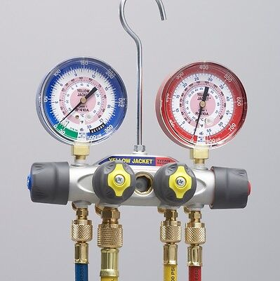 Yellow Jacket 49967 Titan 4-valve Test Charging Manifold R-22 R-404a R-410a