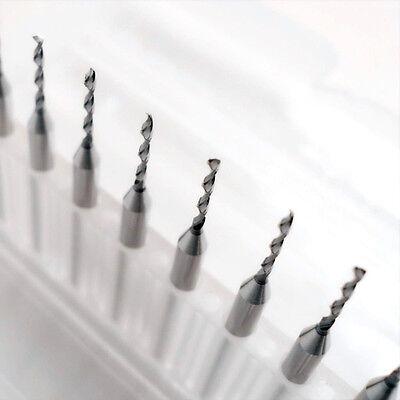10pcs 1.2mm Tip Spiral Flute Tungsten Carbide Micro Pcb Drill Bits