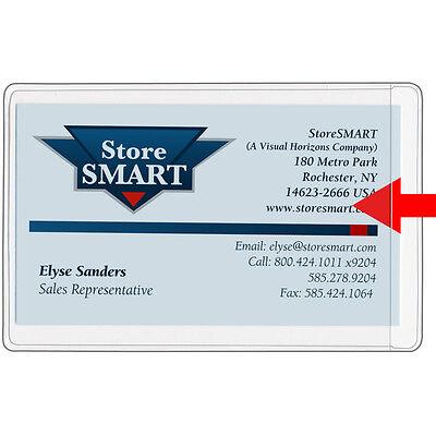 Business Card Holders - Vinyl Plastic - 25-pack - Open Short Side Pe222s-25
