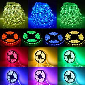 5M-3528-5050-SMD-RGB-Waterproof-Flexible-Strip-150-300-600-LED-Lamp-Car-12V