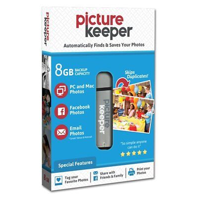 Picture Keeper 8GB Flash USB Backup/ Storage Device for Computers- w/FREE Case