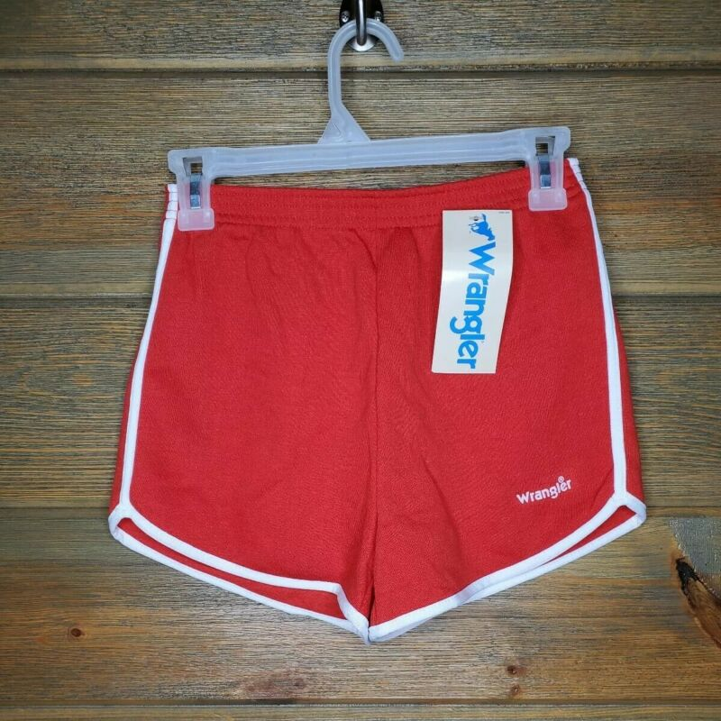 Vintage Wrangler Red 80s 70s High Waisted Workout Track Shorts womens Small