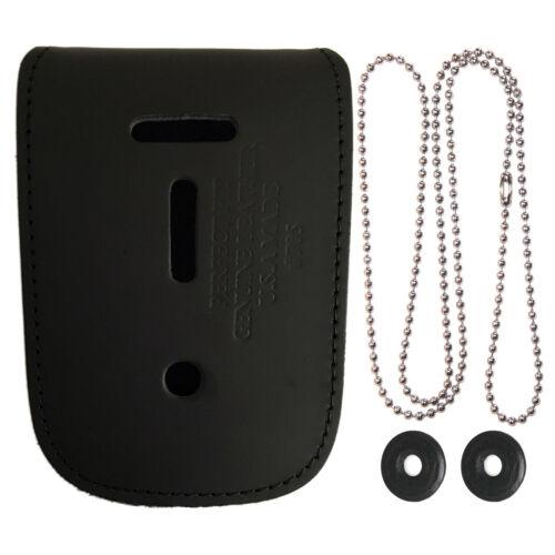 Universal Neck Chain Badge & ID Holder - Police Badge Leather Holder
