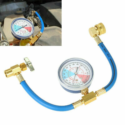 R134A Car Air Conditioning Refrigerant Recharge Measuring Hose Gas Gauge Pipe