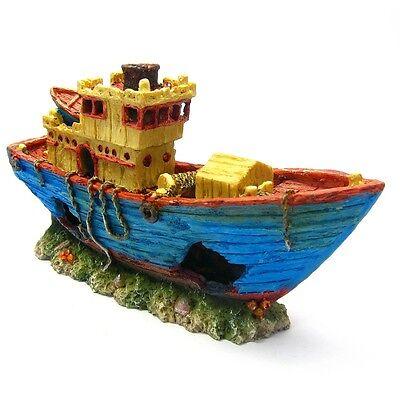Shipwreck Aquarium Decorations - Tropical Fish Tank Decor Ship Boat for Kids - Tropical Fish Decorations
