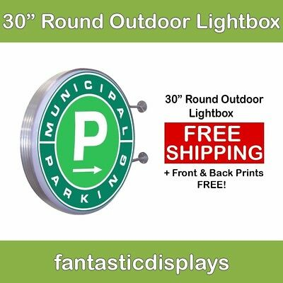 30 Round Outdoor Light Box Led Sign With Free Printing For Business Advertising