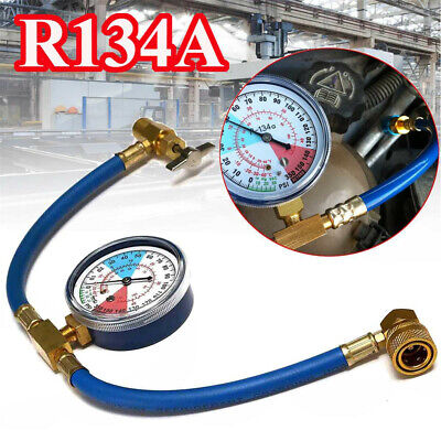 Universal R134A Car Air Conditioning Refrigerant Recharge Hose Pipe With Gauge