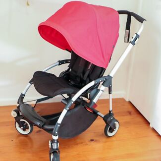 Bugaboo Bee pram with red canopy & bugaboo bee original canopy in Canberra Region ACT   Gumtree ...