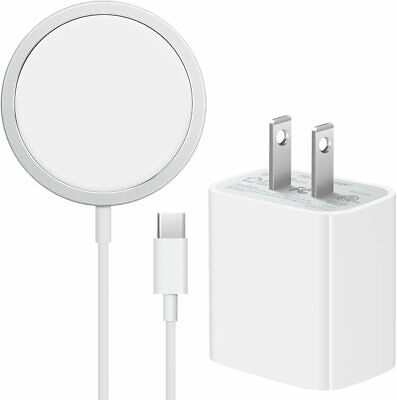Mag safe Wireless Magnetic Charger For iPhone 12/12 Pro & 20W USB-C Wall Adapter