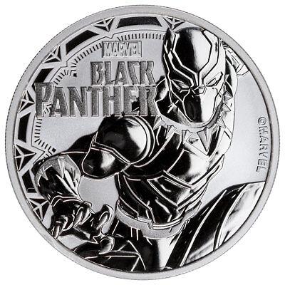 2018 Tuvalu Black Panther 1 oz Silver Marvel Series $1 BU Cap PRESALE SKU52233