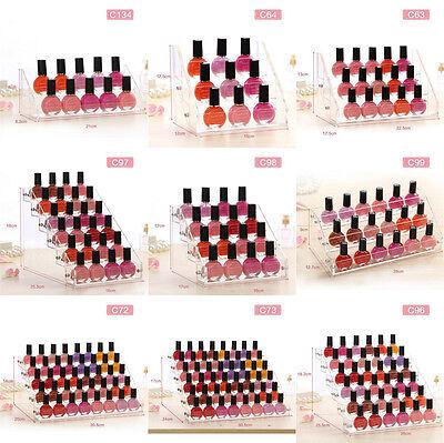 (Transparent Acrylic Organizer Lipstick Display Stand Holder Nail Polish Rack)