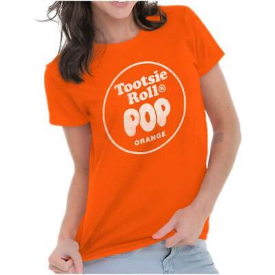 Vintage Tootsie Roll Pop Orange Lollipop Logo Tees Shirts Tshirts For - Orange Lollipop