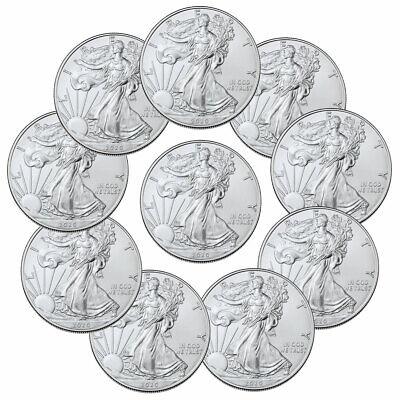 Lot of 10 2020 1 oz American Silver Eagle $1 Coins GEM BU SKU59439 American Silver Eagle Gem