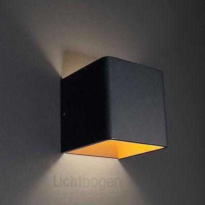Wandleuchte Novel LED 6W/3000K/438lm/IP20 Aussen Schwarz/Innen Gold @MoltoLuce