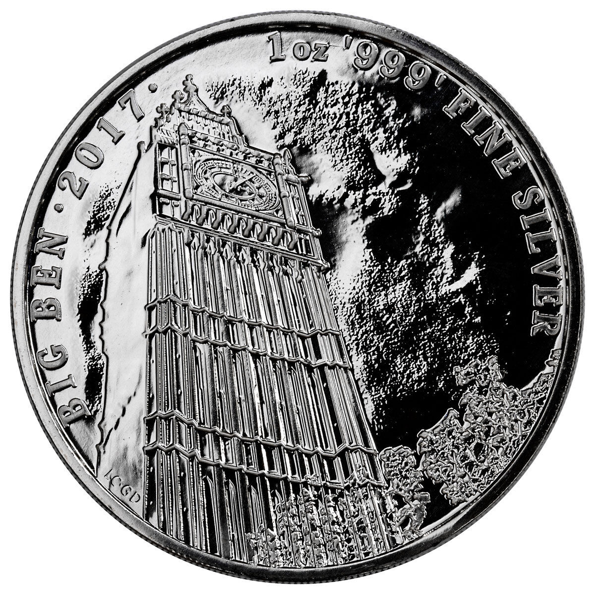 UK 2017 2 Pounds Landmarks of Britain Big Ben New Year 1 Oz Silver Coin