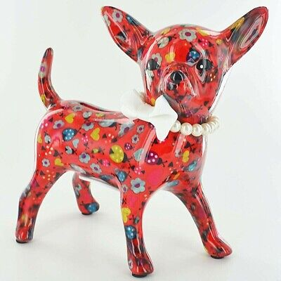 Pomme Pidou Chihuahua Money Box Piggy Bank Unique Art Quirky Dog Lovers Gift -