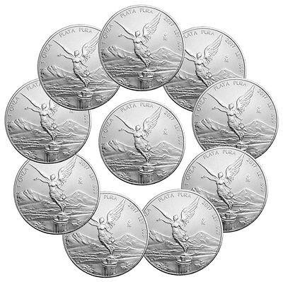 Lot of 10 - 2017-Mo Mexico 1 oz .999 Fine Silver Libertad Coin SKU47083