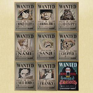 [Set] One Piece Wanted Poster [42x30cm] + Posterklebeband, Steckbrief Anime