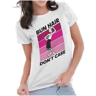 Olive Oyl Hair (Bun Hair Don't Care Olive Oyl Popeye Funny Womens Tees Shirts Ladies)